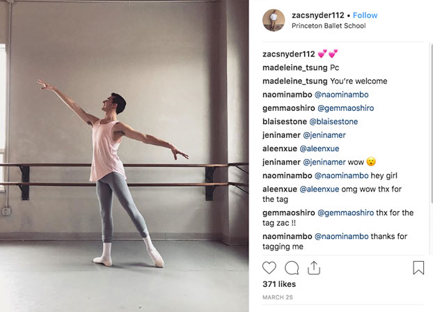 Princeton Ballet Instagram Post
